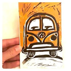 VW Ink block print magnets! ✨ 🚌 ✨